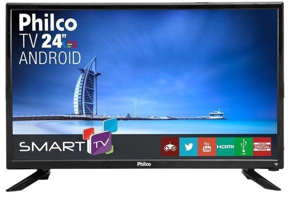 "Tv 24"" Led Philco Hd Smart - Ptv24g50sn"