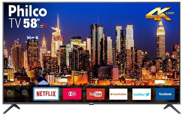 """Tv 58"""" Led Philco 4k - Ultra Hd Smart - Ptv58g71agbls"""