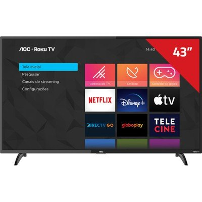 "Tv 43"" Led AOC Full Hd Smart - 43s5195/78g"